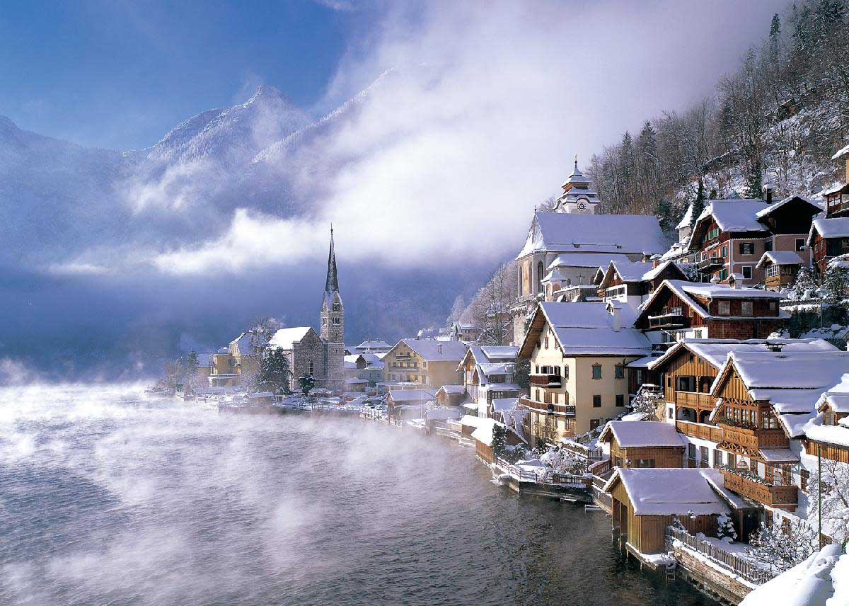 Hallstatt, Austria Winter Jigsaw Puzzle