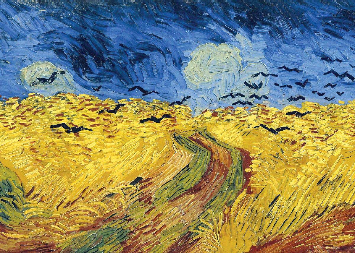 Wheatfield With Crows (Mini) Fine Art Jigsaw Puzzle