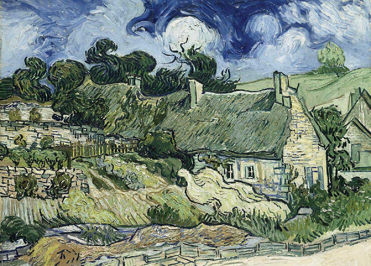 Thatched Cottages at Cordevill Fine Art Jigsaw Puzzle
