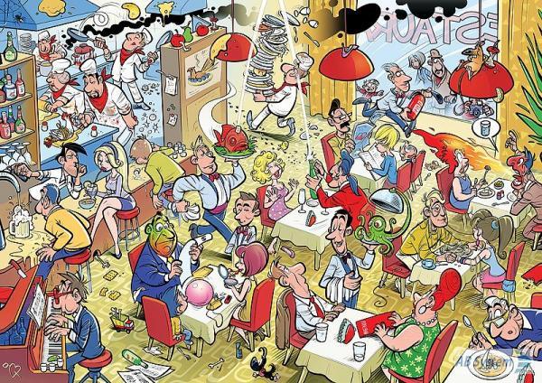 Chaotic Restaurant Jigsaw Puzzle Puzzlewarehouse Com