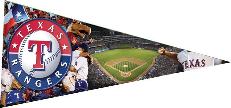 Pennant - Texas Rangers Sports Jigsaw Puzzle