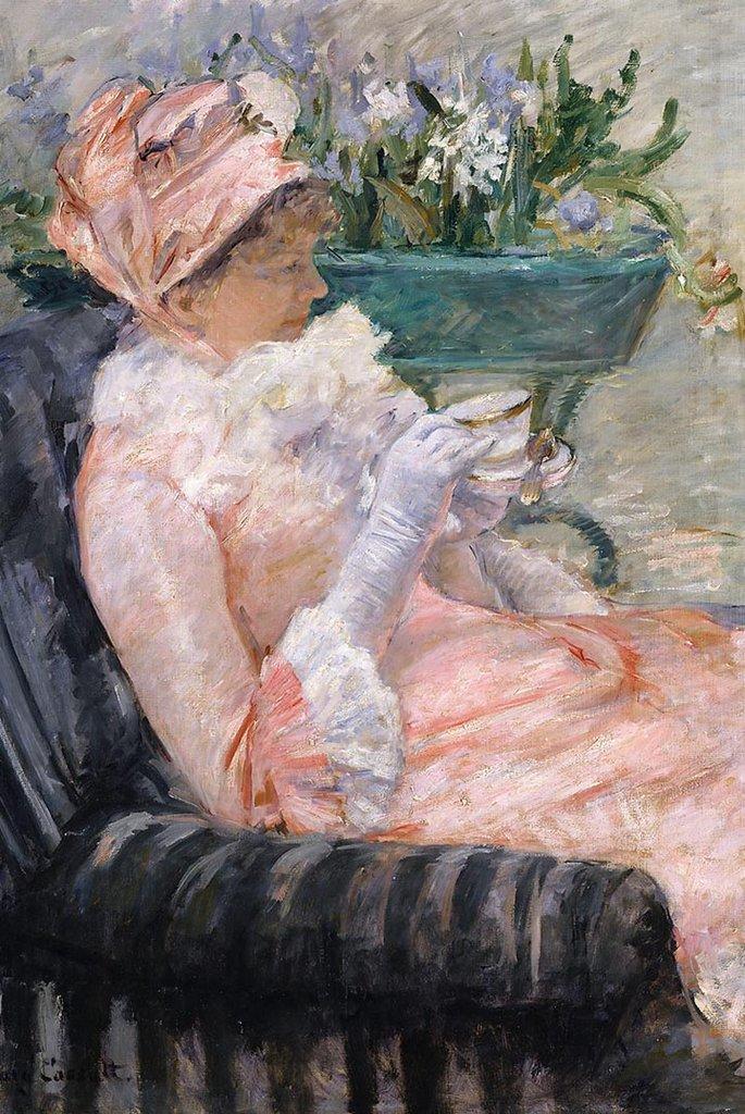 The Cup of Tea by Mary Cassatt Fine Art