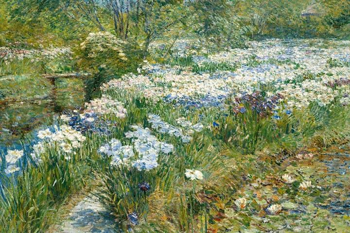 The Water Garden by Childe Hassam Fine Art