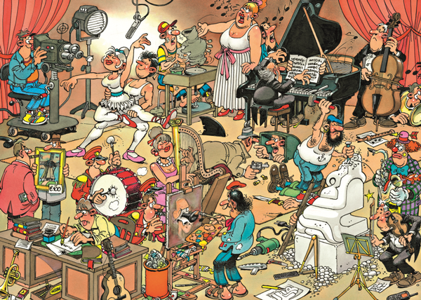 The Artists - 150 Cartoons Jigsaw Puzzle