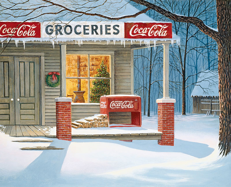 The Corner Store Coca Cola Jigsaw Puzzle