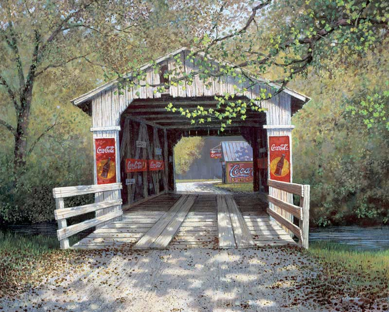 The Covered Bridge Coca Cola Jigsaw Puzzle