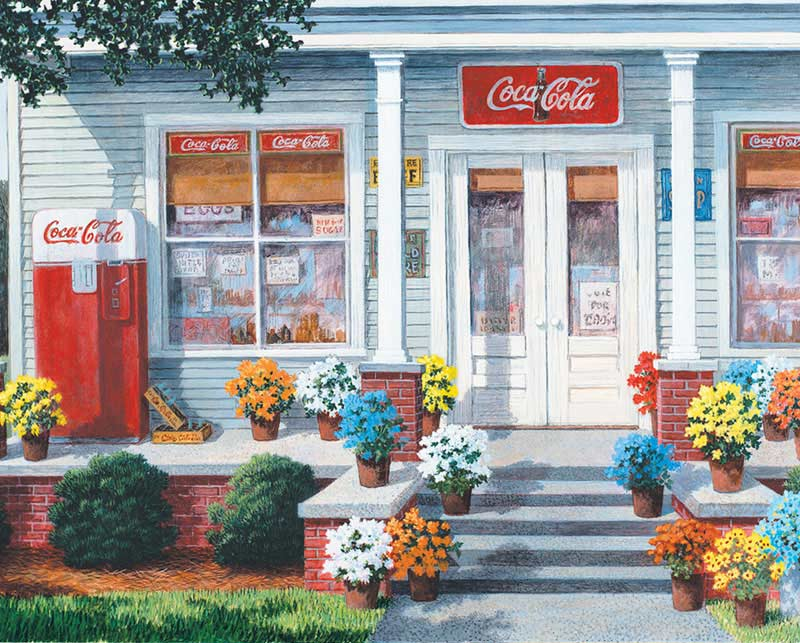 The General Store Americana Jigsaw Puzzle
