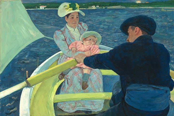 The Boating Party by Mary Cassatt Fine Art