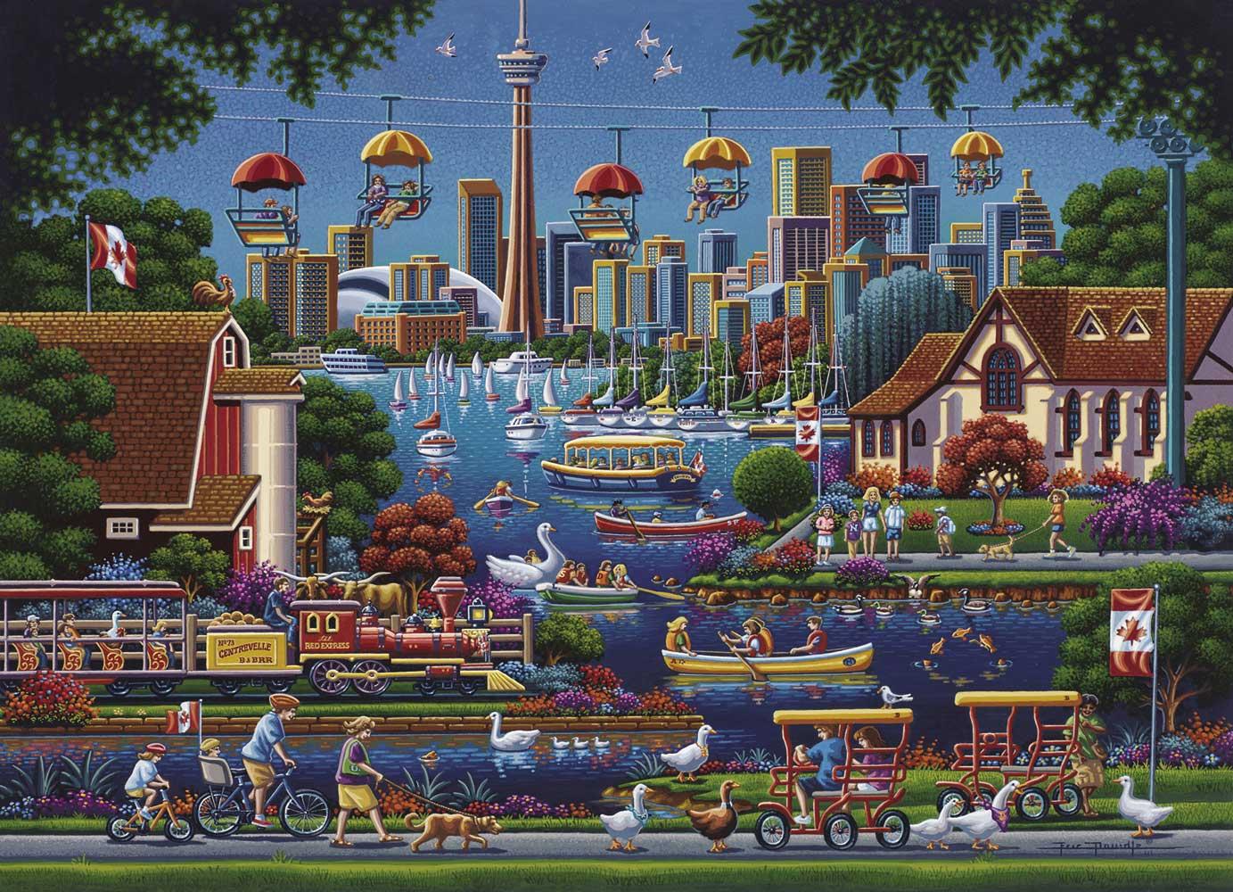 Toronto Island Summer Jigsaw Puzzle