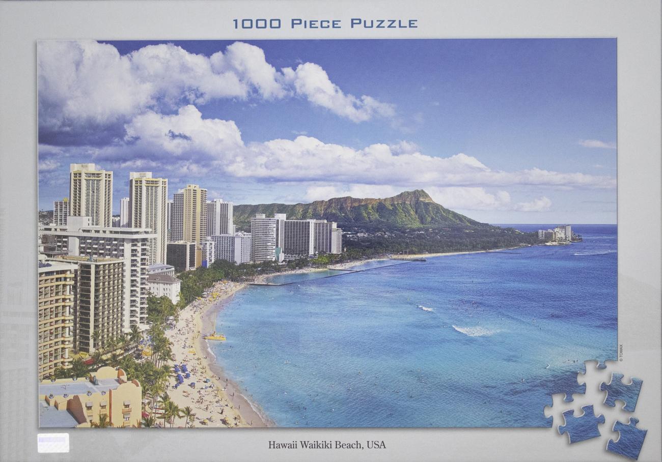 Hawaii Waikiki Beach Beach Jigsaw Puzzle
