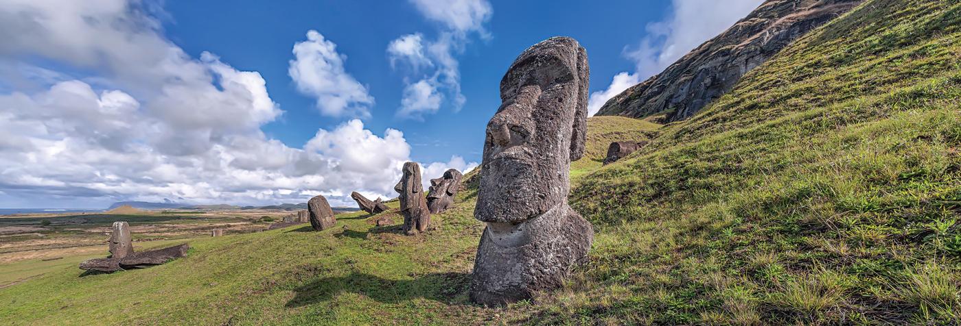 Moai Statues On Easter Island South America Jigsaw Puzzle
