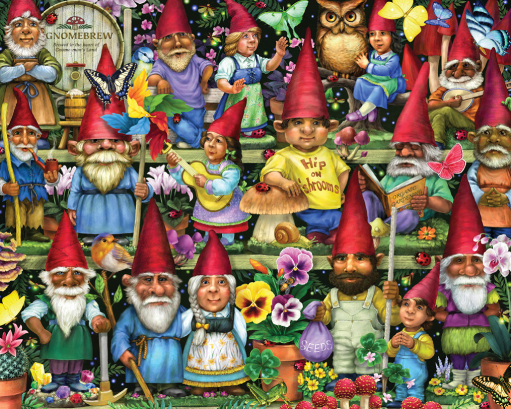 Gnomes Galore Christmas Jigsaw Puzzle