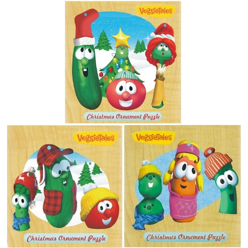 Veggie Tales - Ornament Assorment Christmas Wooden Jigsaw Puzzle