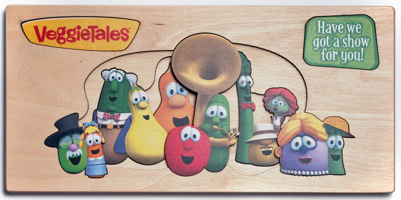 Veggie Tales - Character Collage Cartoons Wooden
