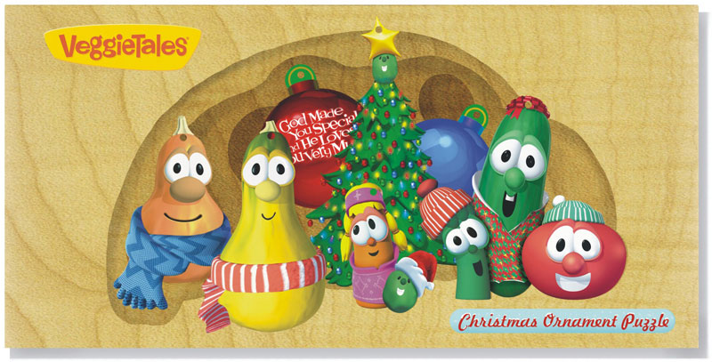 Veggie Tales - Christmas Ornament Puzzle Set Cartoons Jigsaw Puzzle