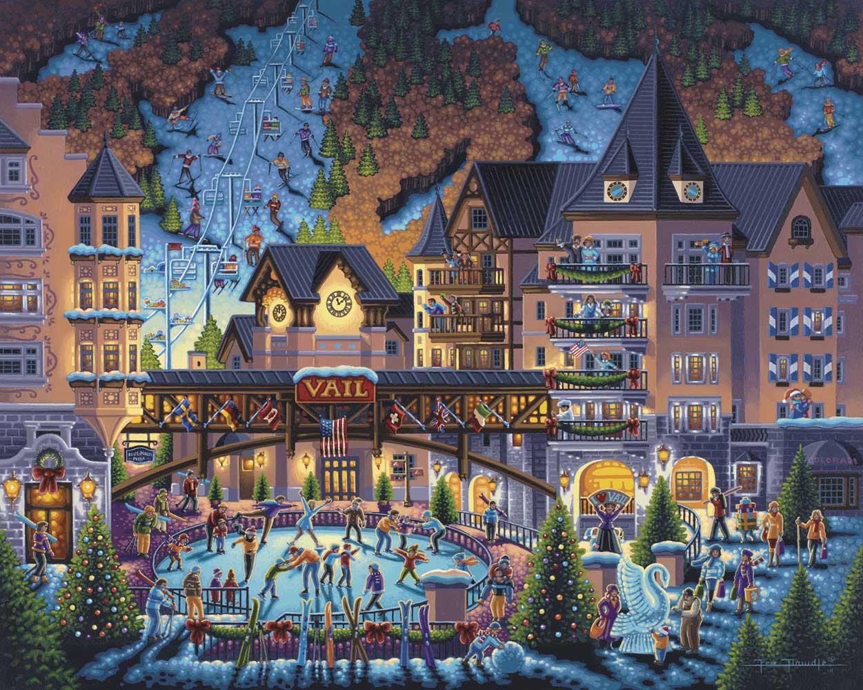 Vail Village Jigsaw Puzzle Puzzlewarehouse Com