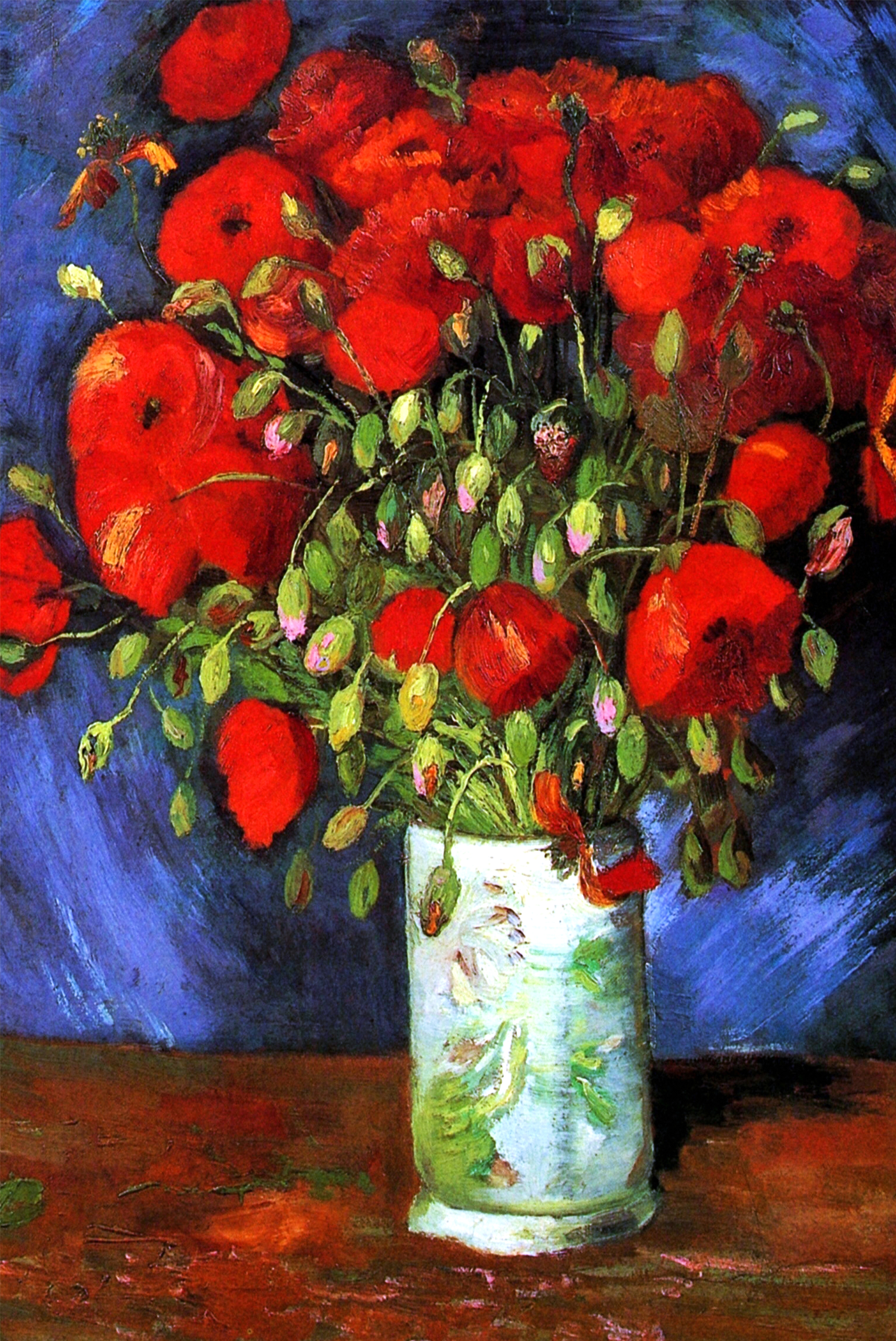 Vase with Red Poppies by Van Gogh Fine Art