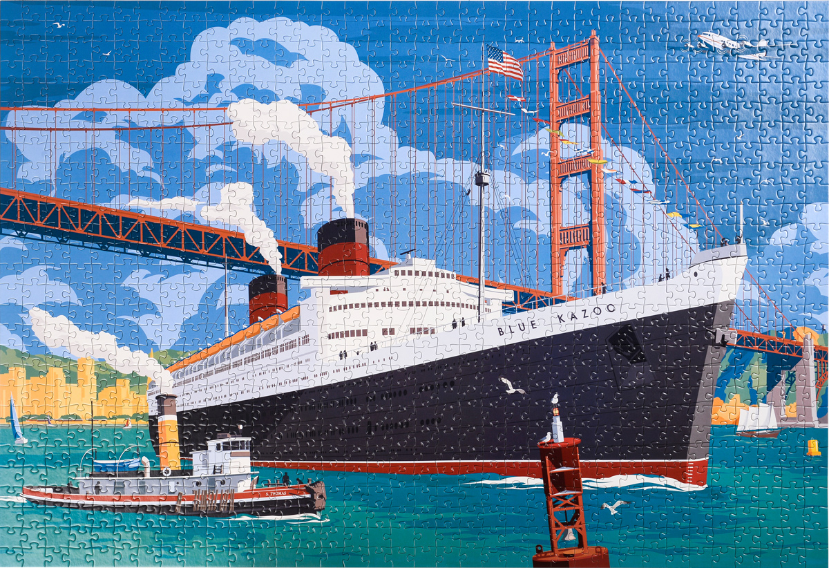 Across the Continent - A Vintage Travel Series Ocean Liner Jigsaw Puzzle Boats Jigsaw Puzzle