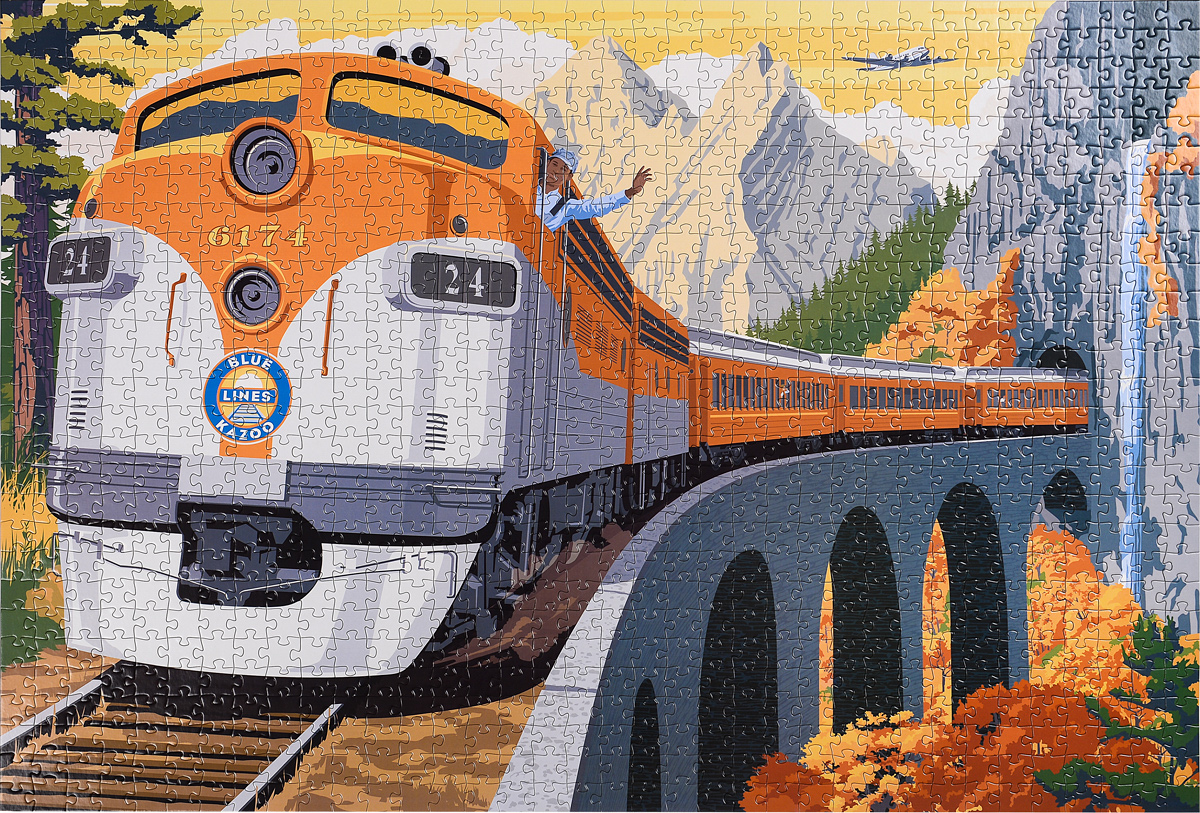 Across the Continent - A Vintage Travel Series Train Jigsaw Puzzle Trains Jigsaw Puzzle