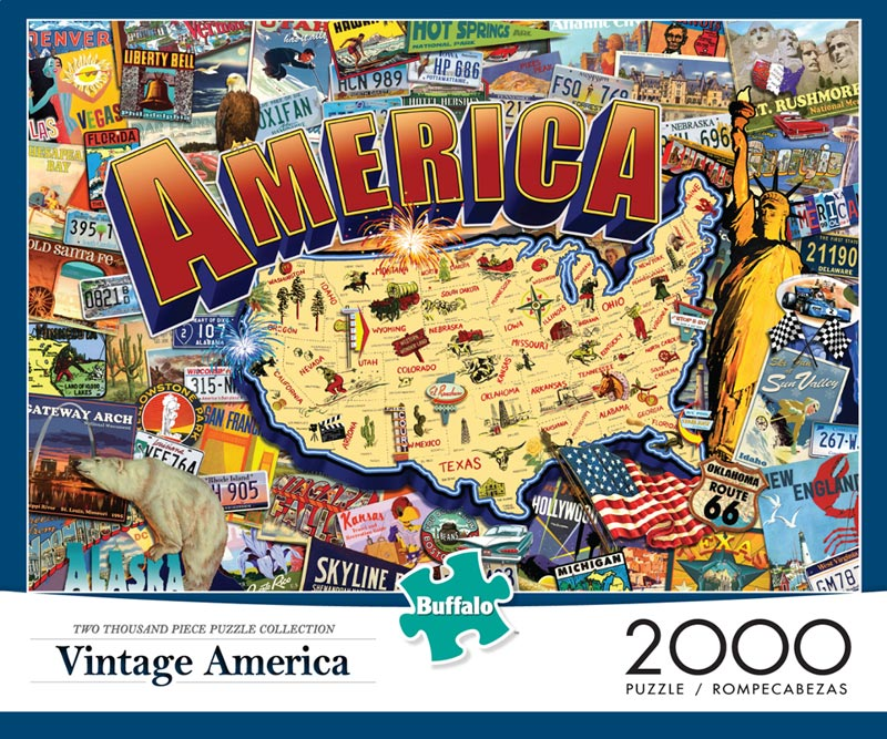 Vintage America Maps / Geography Jigsaw Puzzle