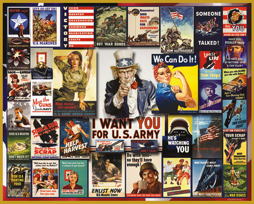 World War II Posters Patriotic Jigsaw Puzzle