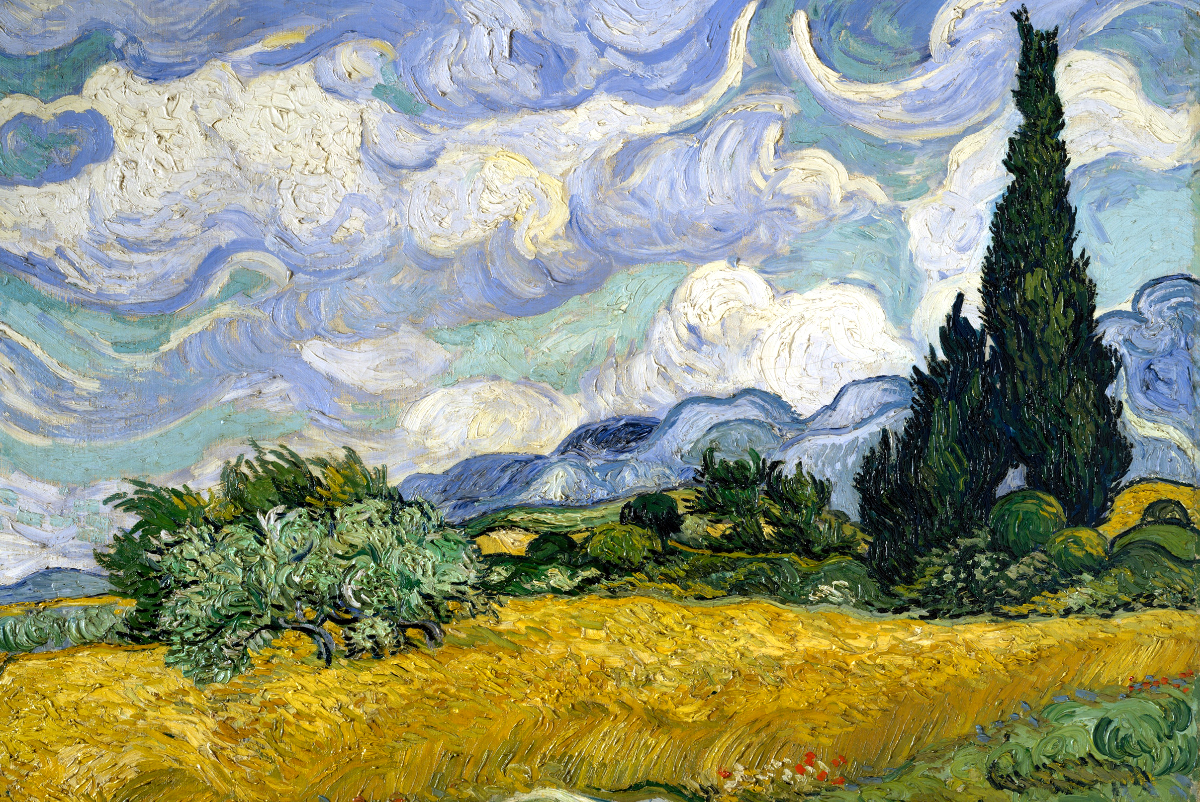 Wheat Field with Cypresses by Van Gogh Fine Art