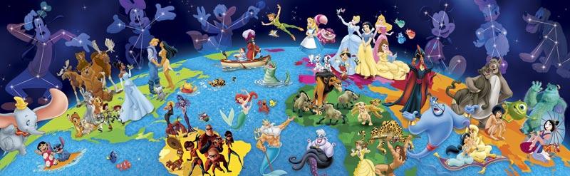 Disney Panorama World Of Disney Jigsaw Puzzle Puzzlewarehouse Com