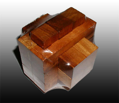 Wood Knott Try This - Burr 3x4x6