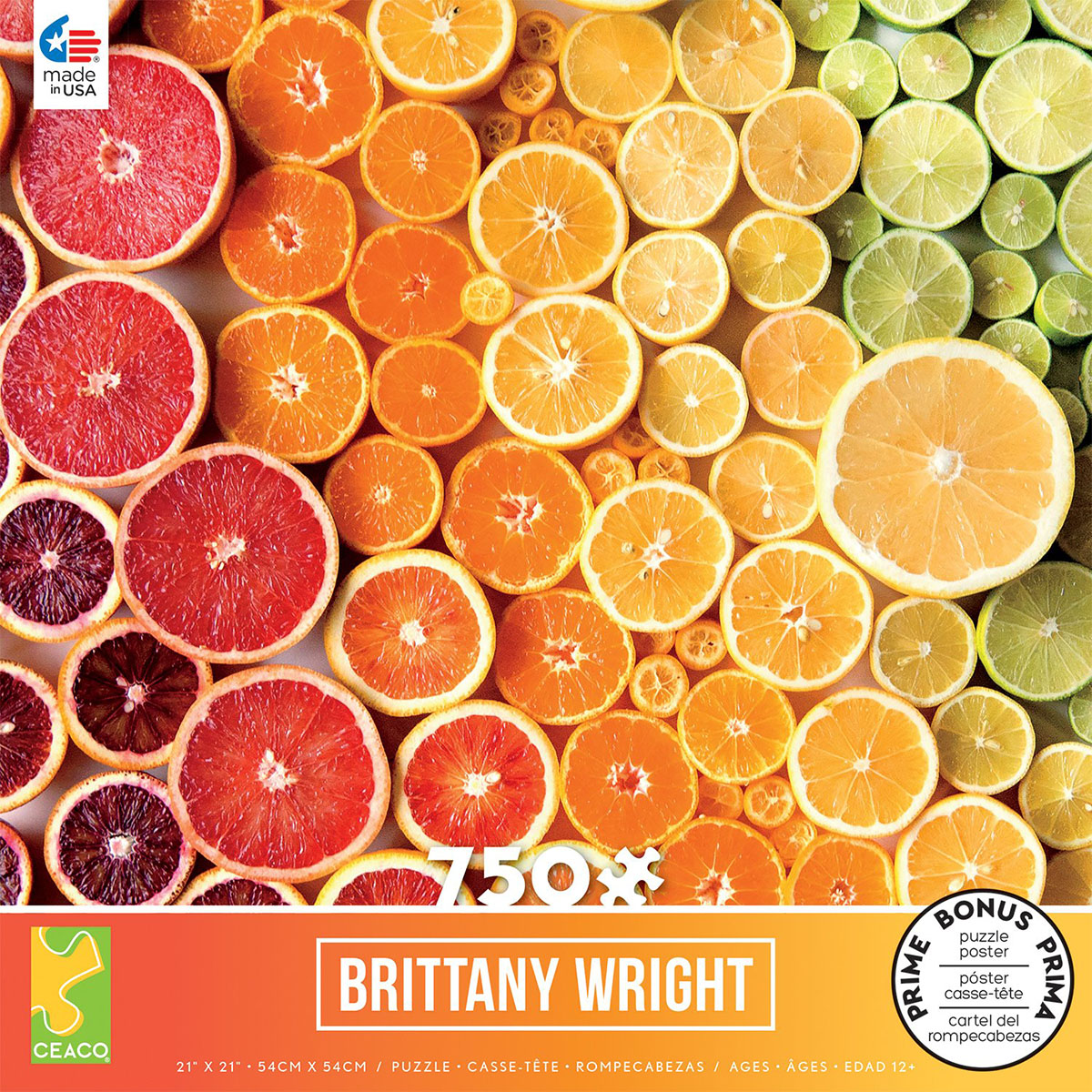 Citrus Gradient (Brittany Wright) Food and Drink Jigsaw Puzzle