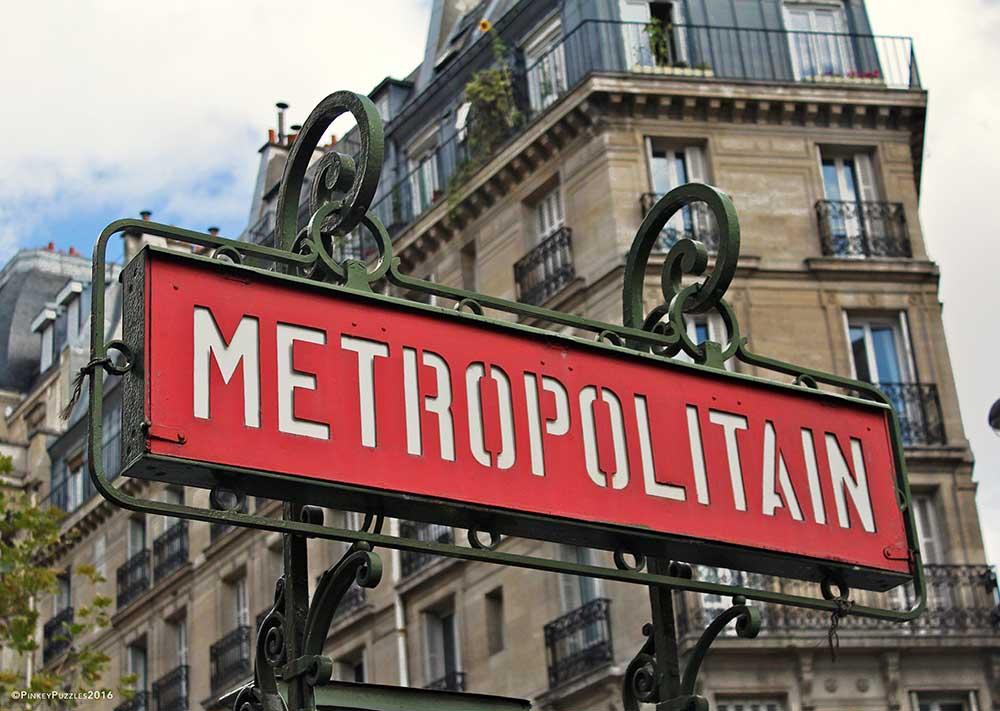 Paris Metro Street Scene Jigsaw Puzzle