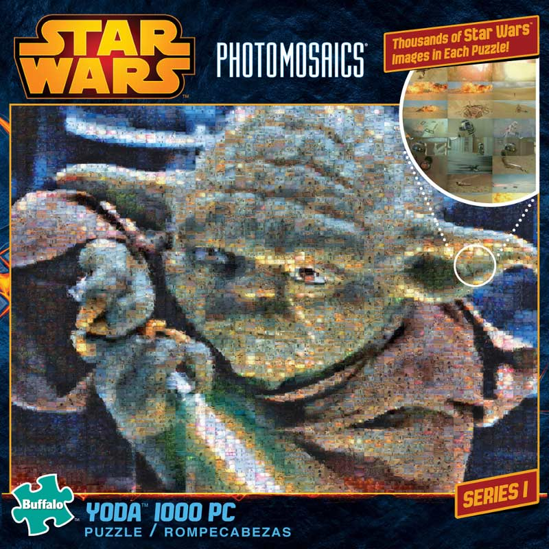star wars photomosaic yoda scratch and dent jigsaw puzzle