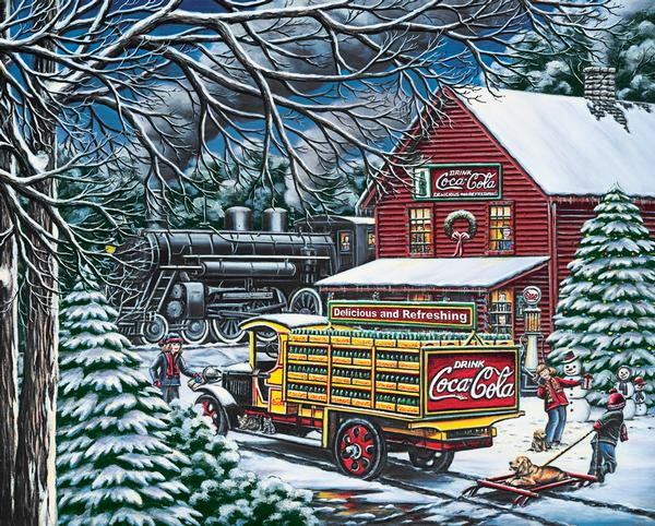 Coca-Cola - Yule Time Delivery Christmas Jigsaw Puzzle