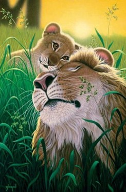A Father's Love Lions Jigsaw Puzzle
