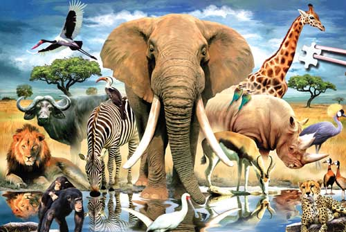 African Oasis  (World's Smallest Puzzles) Animals Jigsaw Puzzle