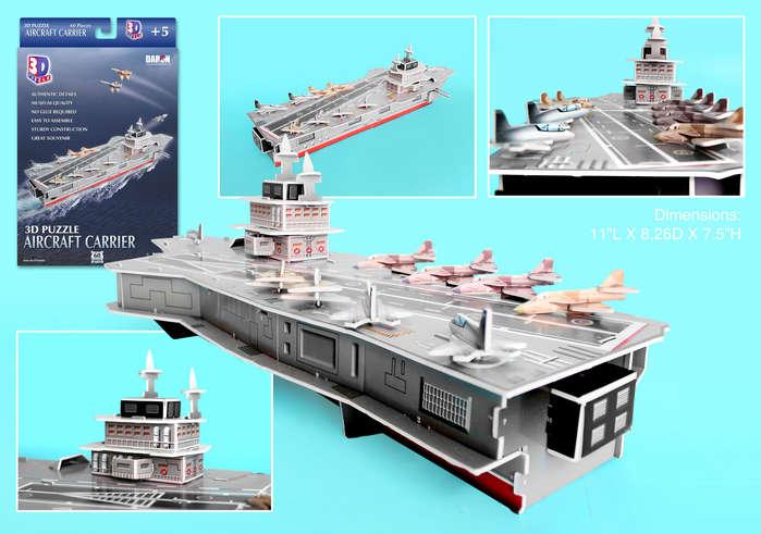 3D Puzzle - Aircraft Carrier History 3D Puzzle