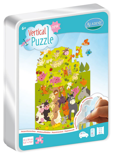 Vertical Puzzle - Farm 48 Farm Animals Jigsaw Puzzle