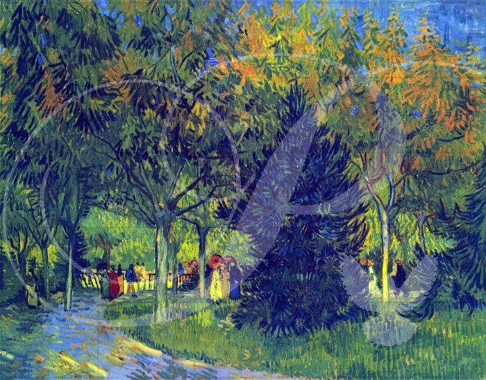 Alee in the Park Impressionism Wooden Jigsaw Puzzle
