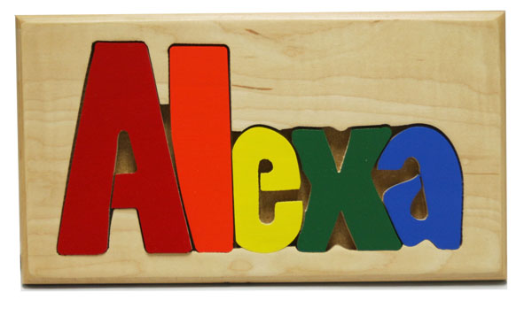 Alexa Wooden Name Puzzle
