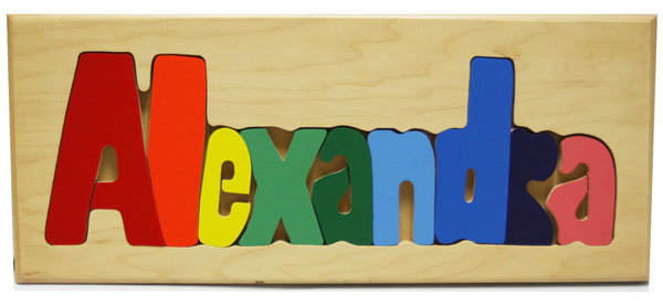 Alexandra Wooden Name Puzzle