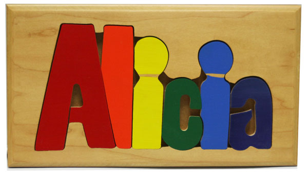 Alica Wooden Name Puzzle