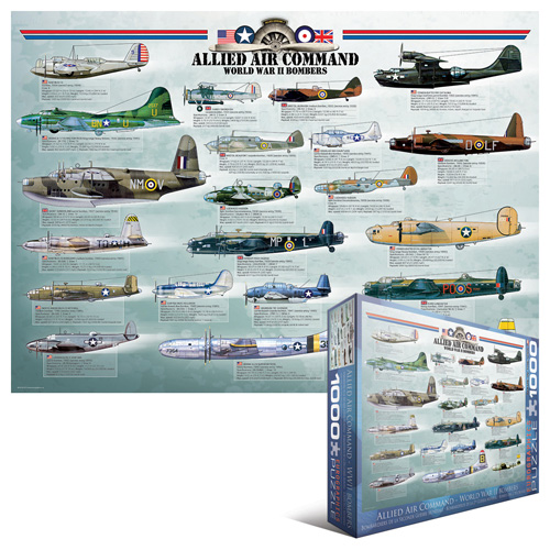 Allied Air Command WWII Bombers Planes Jigsaw Puzzle