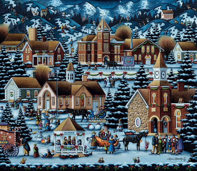 Alpine Christmas - Scratch and Dent Christmas Jigsaw Puzzle