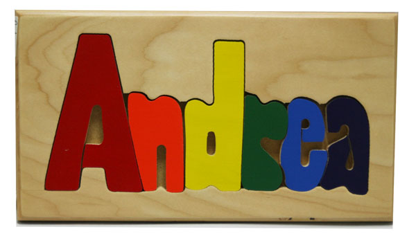 Andrea Wooden Name Puzzle