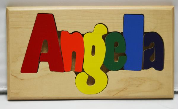 Angela Wooden Name Puzzle