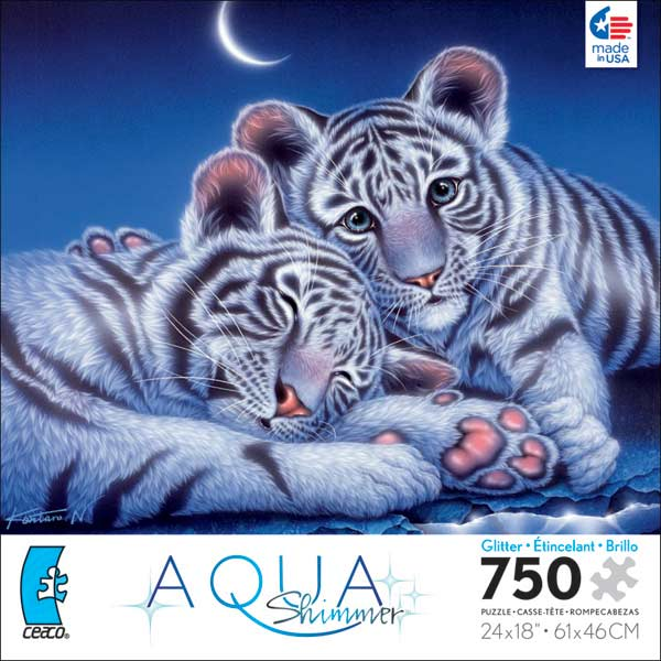 Aqua Shimmer - Two Baby Tigers Tigers Glitter/Shimmer/Foil