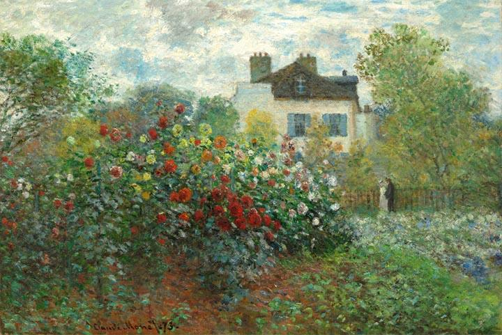 The Artist's Garden in Argenteuil by Claude Monet Fine Art