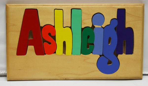Ashleigh Wooden Name Puzzle