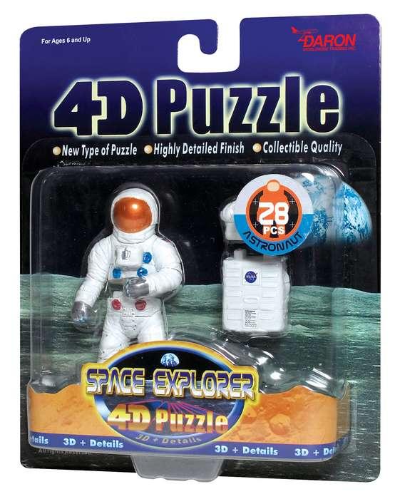 4D Puzzle - Astronaut Space Jigsaw Puzzle