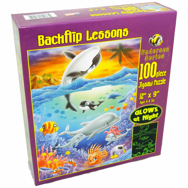 Backflip Lessons Under The Sea Glow in the Dark Puzzle