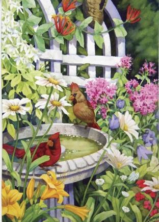 Backyard Oasis Garden Jigsaw Puzzle